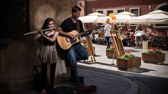 pouliční hudebníci